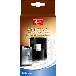 Melitta 6707804 - Détartrant Anti Calc pour machines à café ( 4 sachets de poudre x 40 g)