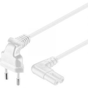 Goobay Câble secteur [ connecteur Euro mâle - fiche femelle C7 pour petits appareils] 97351 blanc 2 m