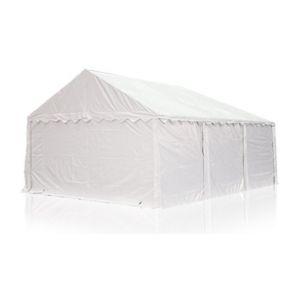 Intent24 Abri / Tente de stockage ECONOMY - 4 x 4 m en blanc - toile PVC 500 g/m² imperméable