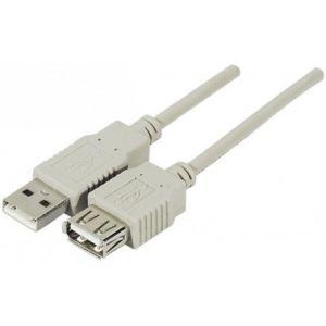 Abix 149385 - Rallonge USB 2.0 AB a a M/F 1,8 m