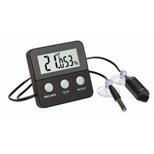 TFA Dostmann TFA-Dostmann 30.5044.01terracheck Thermomètre Hygromètre Numérique pour contrôle climat dans les terrariums, noir, 6,5x 3x 6,5cm