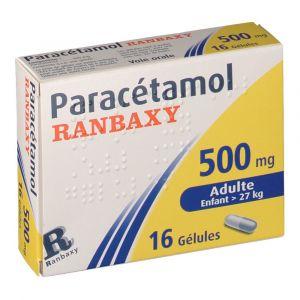 Ranbaxy Paracétamol 500 mg - 16 Gélules