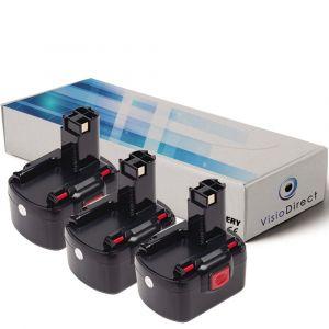 Visiodirect Lot de 3 batteries pour Bosch PSB 12 VE-2 perceuse à percussion3000mAh 12V