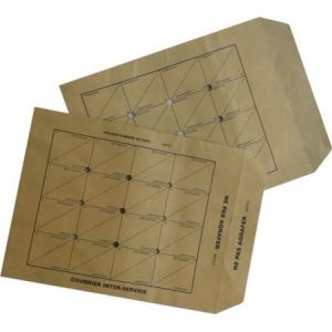 Gpv 4204 - Pochette Administrative 260x330, 90 g/m², coloris brun - boîte de 250