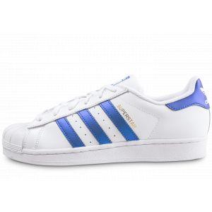 Adidas Superstar s Blanc/bleu 40 Homme
