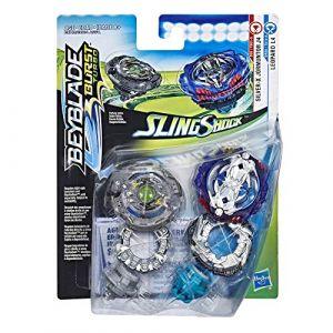 Hasbro Toupie Beyblade Burst Slingshock - Coffret 2 Toupies - Silver-X Jormuntor J4 et Leopard L4