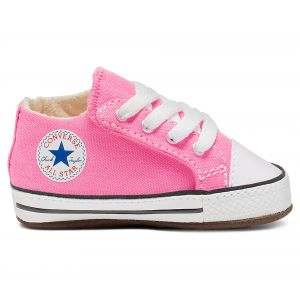 Converse Chaussures casual Chuck Taylor All Star tige moyenne à scratch en toile Cribster Canvas Color Rose - Taille 18