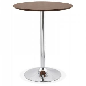 "Table de Bar ""Nazca"" 90cm Noyer Prix"