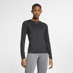 Nike Haut en meshà manches longues Pro pour Femme - Noir - Taille M - Female