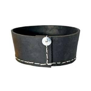 Corbeille ronde en pneu recyclé coloris noir H 8 x Ø 20 cm