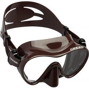 Cressi F1 Masque Plongee Snorkeling Adulte, Technologie Frameless Marron
