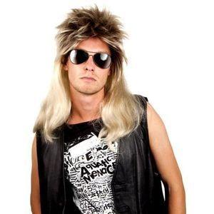 Perruque pop rock blonde