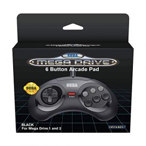 Official SEGA Mega Drive Controller 6-Button Arcade Pad for Sega Mega Drive/Genesis - Original Port - Black [Megadrive]