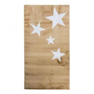 Alecto STARS Tapis enfant - 80 x 150 cm - Polypropylène - Beige