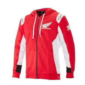 Alpinestars Sweat à capuche zippé Honda Zip rouge - S