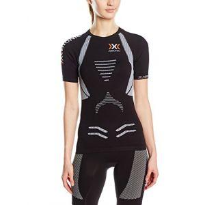 X-Bionic T-shirts Running The Trick Evo S/s - Black / White - Taille XS