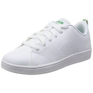 Adidas VS Advantage Clean K, Baskets,Unisexe, Enfant, Blanc (Footwear White/Footwear White/Green 0), 28.5 EU