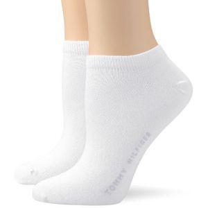 Tommy Hilfiger Socquettes - 5 Den - Lot de 2 - Femme - Blanc (White) - FR: 39 (Taille fabricant: 39/42)