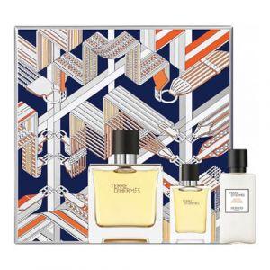 Hermès Terre d'Hermès - Coffret eau de parfum, lotion après-rasage et miniature