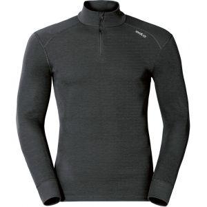 Odlo Originals Warm T-Shirt chaud col zipp manches longues homme Noir Taille Fabricant : M