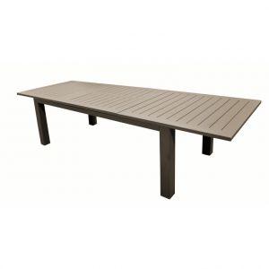 Grande table Caméline à rallonges couleur Café 214/311 x 110 x 75 cm