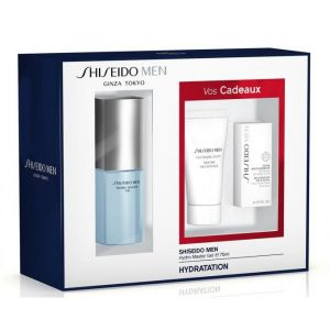 Shiseido Men - Coffret Hydro Master gel, mousse nettoyante et revitalisant total