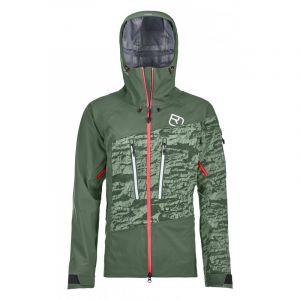 Ortovox Women's 3L Guardian Shell Jacket - Veste de ski taille M, vert olive/gris