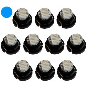 Aerzetix 10x ampoules T4.2 3LED SMD 12V 1W lumière bleue pour tableau de bord