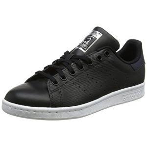 Adidas Stan Smith J, Chaussures de Fitness Mixte Enfant, Noir (Negbás/Negbás/Plamet 000), 37 1/3 EU