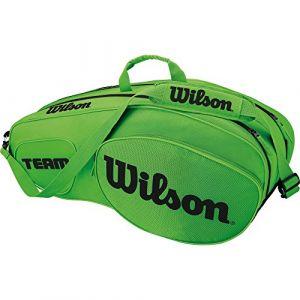 Wilson Sac de Tennis Unisexe Pour les joueurs experts Team III 6 PK Taille Unique Vert/Noir WRZ854806
