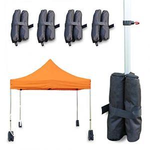 Intent24 Housses Sacs de Lestage OXFORD 32 kg NOIR / Pavillon Tente Pliante Tonnelle Tente de Réception Barnum Jardin.FR