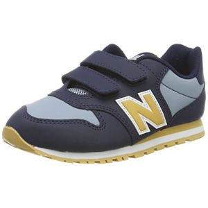 New Balance Yv500v1, Baskets garçon, Bleu Navy/Yellow, 33 EU