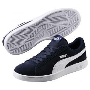 Puma Smash v2, Sneakers Basses mixte adulte - Bleu (Peacoat White), 41 EU