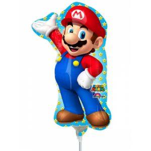 Ballon aluminium gonflé Super Mario (20 x 30 cm)