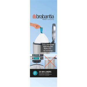 Brabantia 20 rouleaux de sacs de poubelle type F (20 L)