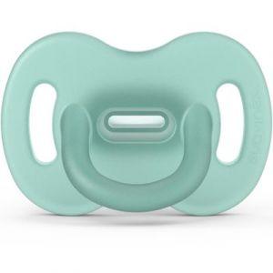 Suavinex Sucette en silicone avec tétine symétrique SX PRO Smoothie vert (6-18 mois)