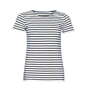 Sol's SOLS Miles - T-shirt rayé à manches courtes - Femme