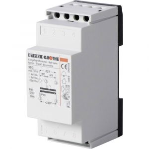 Heidemann Transformateur de sonnette 70044 4 V/AC, 8 V/AC, 12 V/AC 2 A