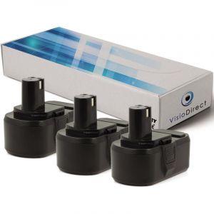 Ryobi Lot de 3 batteries pour CCW-180L tronçonneuse sans fil 3000mAh 18V