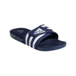 Adidas Sandales Claquette Adissage bleu - Taille 38,42,46,36 2/3,39 1/3,40 2/3,43 1/3,44 2/3,47 1/3,48 2/3