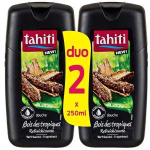 Tahiti Gel Douche Bois des Tropiques - Les 2 Flacons de 250 ml