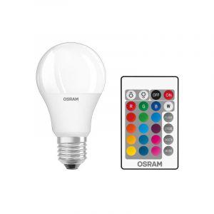 Osram Lampe LED Star avec télécommande, 9 Watt, E27, blanc chaud, RGB dimmable