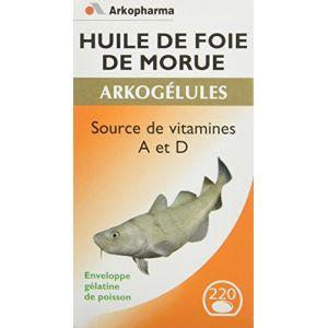Arkopharma Arkogélules - Huile de foie de morue, 220 gélules