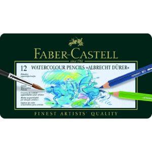 Faber-Castell Etui en métal de 12 Crayons aquarellables Albrecht Durer