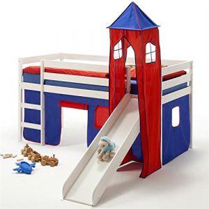 Idimex Lit surélevé chambre enfant en bois