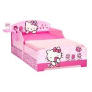 Lit Hello Kitty avec sommier et 2 tiroirs et un repose gobelet (70 x 140 cm)