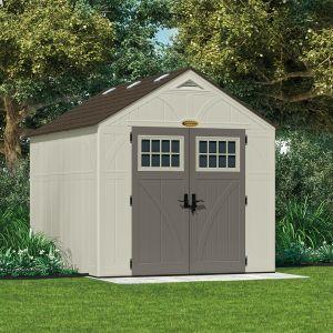 Suncast Woodgrain 7.9 m² - Abri de jardin résine haute qualité + Plancher