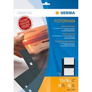 Herma 7787 - Pochettes transparentes A4 Fotophan, pour photos 13x18