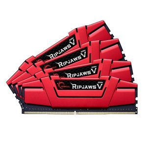 G.Skill F4-3466C16Q-32GVR - Barrette mémoire RipJaws 5 Series Rouge 32 Go (4x 8 Go) DDR4 3466 MHz CL16