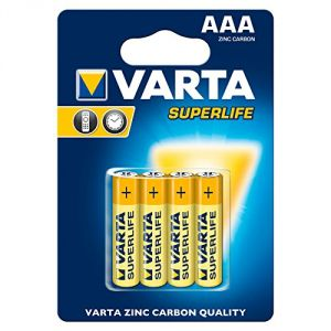 Varta 4 piles Superlife R03 Micro AAA